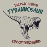 Prédateur fâché de rex de tyrannosaure illustration de vecteur