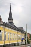 Prédio da escola em Kokkola finland fotos de stock royalty free