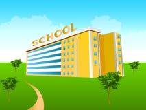 Prédio da escola no verde Fotografia de Stock
