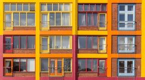 Prédio de apartamentos colorido Imagem de Stock