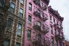 Prédio de apartamentos cor-de-rosa, New York City foto de stock royalty free