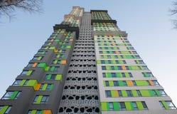 prédio de apartamentos da Hagh-elevação fotos de stock