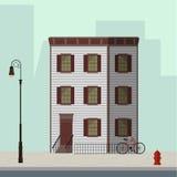 Prédio de apartamentos de Manhattan ilustração royalty free