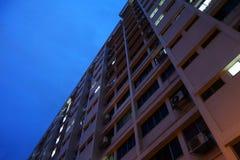 Prédio de apartamentos do alojamento em Singapura fotografia de stock
