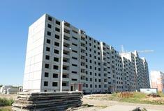 Prédio de apartamentos sob a construção Foto de Stock