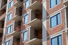 Prédio de apartamentos sob a construção Foto de Stock Royalty Free
