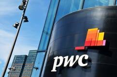Prédio de escritórios de PricewaterhouseCoopers Foto de Stock Royalty Free