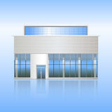 Prédio de escritórios e a entrada com reflexão Fotografia de Stock Royalty Free
