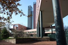 Prédio de escritórios em Tilburg Imagens de Stock Royalty Free