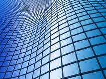 Prédio de escritórios em um fundo do céu azul Fotos de Stock Royalty Free