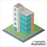 Prédio de escritórios isométrico moderno, centro de negócios Foto de Stock Royalty Free