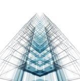 Prédio de escritórios moderno rendição 3d Fotos de Stock