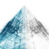 Prédio de escritórios moderno rendição 3d ilustração stock