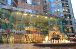 Prédio de escritórios quadrado Hong Kong da troca imagens de stock