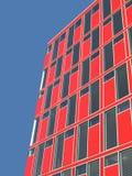 Prédio de escritórios vermelho imagem de stock
