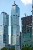Prédios construídos na Moscovo imagem de stock royalty free