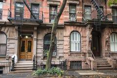 Prédios de apartamentos do Greenwich Village, New York City Fotografia de Stock Royalty Free