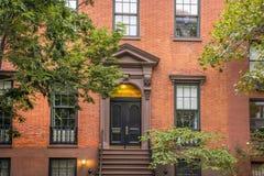 Prédios de apartamentos do Greenwich Village, New York City fotos de stock