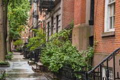 Prédios de apartamentos do Greenwich Village, New York City foto de stock