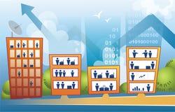 Prédios de escritórios corporativos ilustração do vetor