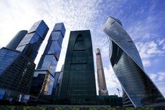 Prédios de escritórios da cidade de Moscou Fotografia de Stock