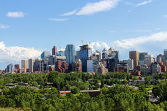 Prédios de escritórios de Calgary Fotografia de Stock