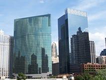 Prédios de escritórios de Chicago Fotos de Stock