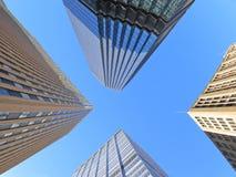 Prédios de escritórios dentro na baixa Fotos de Stock Royalty Free