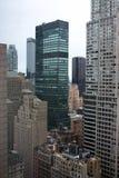 Prédios de escritórios do arranha-céus de New York City fotos de stock royalty free
