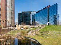Prédios de escritórios em Amsterdão Zuidoost, Holanda Foto de Stock Royalty Free