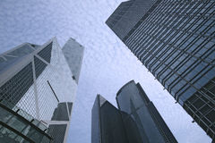Prédios de escritórios em Hong Kong Foto de Stock Royalty Free
