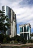 Prédios de escritórios modernos em Ásia Foto de Stock Royalty Free