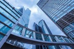 Prédios de escritórios modernos em Hong Kong Fotografia de Stock