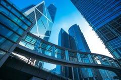 Prédios de escritórios modernos em Hong Kong Fotos de Stock Royalty Free