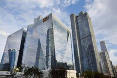 Prédios de escritórios modernos, Pequim de CBD Imagem de Stock