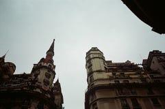 Prédios em Buenos Aires. Prédios em praça em Buenos Aires royalty free stock images