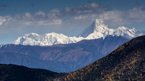 Préfecture d'aba dans la province de Sichuan, montagne de quatre filles Photographie stock libre de droits