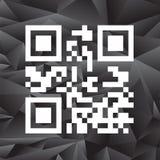 Prélevez le code de qr prêt à balayer avec le téléphone intelligent illustration de vecteur