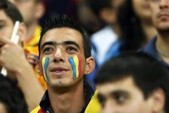 Préliminaires de la coupe du monde 2014 : La Roumanie-Andorre Photo stock