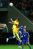 Préliminaires de la coupe du monde 2014 : La Roumanie-Andorre Images stock