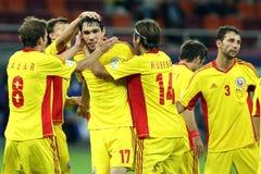 Préliminaires de la coupe du monde 2014 : La Roumanie-Andorre Image libre de droits