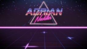 prénom Adrian dans le style de synthwave illustration stock