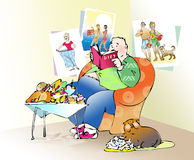 Préparation à un diet2 illustration stock