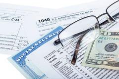 Préparation d'impôts photos stock
