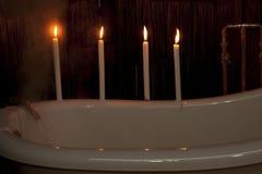 Préparation d'un bain Photo stock