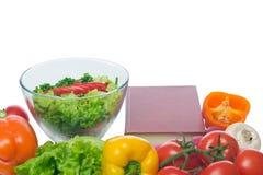 Préparation d'une prescription faible en calories de plat Photos libres de droits