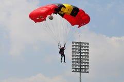 Préparation de championnat de parachutage militaire du monde Images stock