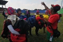 Préparation de championnat de parachutage militaire du monde Photos stock