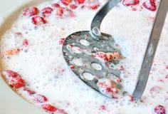 Préparation de dessert images libres de droits