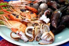 Préparation de fruits de mer Photos stock